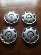 """Juego de cuatro tapacubos originales usados Mercedes Benz 15"""""""