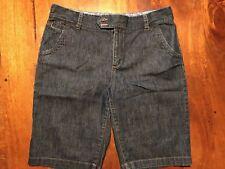 "Women's EDDIE BAUER Denim Blue Jean Shorts Sz 12 11.5"" Length"