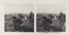 Tranchée en construction Grande Guerre WW1 Photo Stereo Vintage Argentique