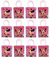 NEW 12x Disney Minnie Mouse Birthday Party Favor Goody Bags Loot Bags Gift  Bags