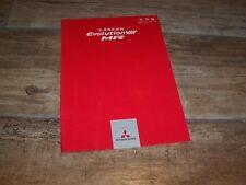 Prospectus  / Japanese Brochure MITSUBISHI Lancer Evolution VIII MR 2004 /
