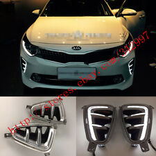 Direct Fit Kia optima K5 2016-2017 White LED DRL Daytime Running Lights Fog Lamp