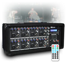 8 Channel 800w Bluetooth Mixer Amplifier with Remote for Live PA Stage DJ Bands