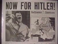 VINTAGE NEWSPAPER HEADLINE~WORLD WAR 2 GERMANY ARMY NAZI HITLER TO DIE WWII 1943