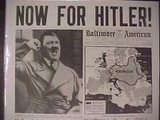 VINTAGE NEWSPAPER HEADLINE ~WORLD WAR 2 NAZI GERMAN ARMY NAZIS HITLER NEXT WWII~