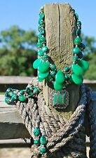 Western Cowgirl Handmade Artisan Inlay Pendant Necklace w/Bracelet, Earrings SET