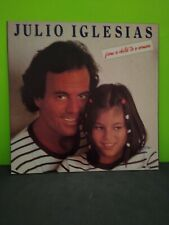 Julio Iglesias from a child to a woman LP Flat Promo 12x12 Poster