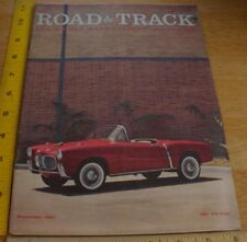 1957 Fiat 1100 TV Le Mans Lotus Volvo PV-444-L Judson VW Road & Track magazine