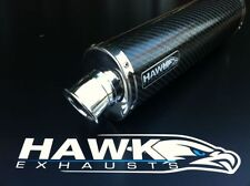Hawk Triumph 1200 Trophy 2012 + Oval Carbon Exhaust Can Silencer Street Legal