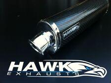 Hawk Triumph 955i 2003 - 2004 03 04 Oval carbono escape puede Silenciador Sl