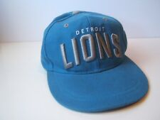 Detroit Lions Spell Out Budweiser NFL Football Hat Blue Snapback Baseball Cap