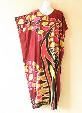 KD89 Maroon Women Kaftan Caftan Batwing Tunic Abaya Dolman Maxi Dress - L to 1X