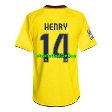 NEW Nike Mens FC Barcelona 08/09 Away Yellow Soccer Jersey THIERRY HENRY #14 XL