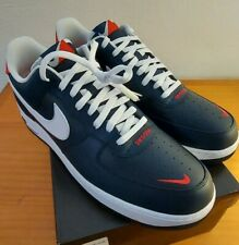 Nike Air Force 1 Low Swoosh Pack Obsidian White Blue Red Size 17 CJ8731-400 New