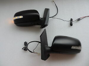 Power Folding LED Signal Side Mirrors For 2006 2007 08 09 10  TOYOTA Yaris 4dr