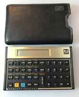 HP Hewlett-Packard 12C Financial Calculator Battery Operated With Case Handheld
