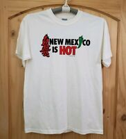 Vintage 1989 New Mexico T-Shirt New Mexico is Hot Peppers Hallinan - Size M