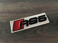 Audi RS5 Black Boot Badge Logo Metal Emblem A5 S5 RS5 Rear Trunk Matt UK STOCK