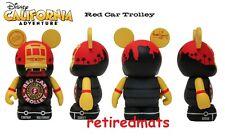 "Disney Vinylmation California Adventure Series RED CAR TROLLEY Mickey 3"" Figure"