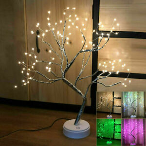 108 LED Christmas Birch Tree Light Up White Twig Tree Easter Home Decorations