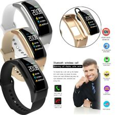 Bluetooth Smart Watch Fitness Tracker Headset Wristwatch for Samsung iPhone ASUS