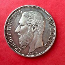 Belgique - Léopold II -  Près de Sup. et Très Rare 2 Francs 1887 VL