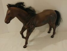"M & C Brown Horse Toy 1/6 Scale Fits 12"" Figure GI Joe Barbie Jointed Front Legs"