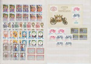 Vatikan Jahrgang 1985, komplette postfrische 4er Block Sammlung inkl. Blocks **