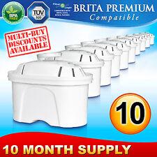 10 x FL402 Premium Water Filter Compatible with Brita Maxtra Jug Cartridge