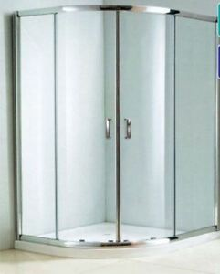 1200 x 900mm Offset Quadrant Enclosure 6mm with Shower Tray & Fast Flow Waste