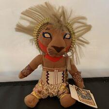 """Lion King Broadway Musical Simba Plush 10"""" Disney Bean Bag NWT Doll"""