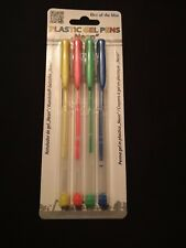 pack of 4 Neon Gel Pens Assorted Colours-Ideal for Craft/School/Office