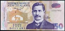 New Zealand $50 ZZ prefix Replacement note UNC p-180r