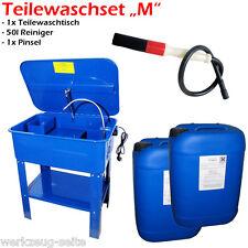 Teilewaschgerät Set inkl. Reiniger u. Pinsel Waschtisch 80 ltr. Parts washer