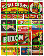5082 DAVE'S DECALS MID CENTURY BUILDING ADVERTISING SIGNAGE WALL SIGNS RC MELONS
