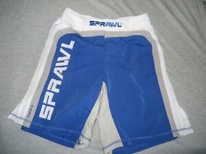 SPRAWL MMA BJJ Shorts New 34 Blue