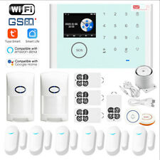 Tuya APP WiFi+GSM+GPRS Wireless Home Security Alarm Burglar System+Amazon Alexa