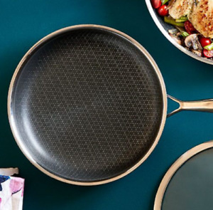 """Pampered Chef 10"""" Stainless Steel Nonstick Skillet - NEW - FREE SHIPPING"""