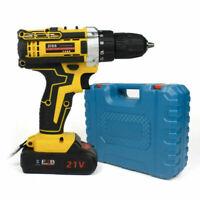 21V Max Power Electric Cordless Drill 2-Speed Driver w/ Bits Set 30pcs DIY US