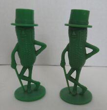 VINTAGE MR. PEANUT GREEN SALT AND PEPPER SHAKERS                  (INV14746)