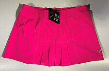 NWT $72 JOFIT Dash Pink Pleated Tennis Golf Skort Skirt, Att'd Shorts Large