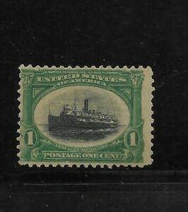 US Scott #294 mint never hinged 1c green & black Steamship, Pan American og f/vf