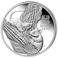 Australien Lunar III Jahr der Maus Year of the Rat 2020 1/2 OZ Silber Silver
