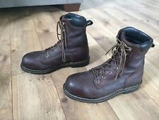 Irish Setter Red Wing Shoes 83804 Leather Steel Toe Safety Boots Men's 9.5 D