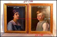 """Hammond Mason """"Monuments Men"""" Portraits de son Fils & de son Épouse 1914 Génova"""