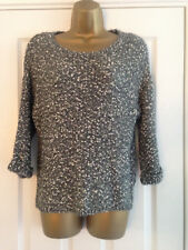 BNWT M&S Collection Grey Fleck Textured 3/4 Sleeve Jumper Size S Small