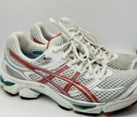 Asics Gel-Cumulus 13  Women's Size 10 White Red Running SoLyte T1A7N (2A)