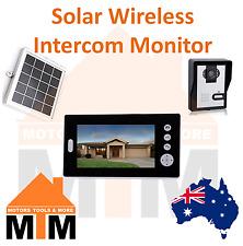 """Solar Battery Powered Wireless 7"""" Inch Colour Video Door Phone Doorbell Intercom"""