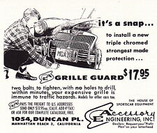 1960 MGA 1600 / ORIGINAL SMALLER PRINT AD ~ ACCESSORY ENGINEERING INC
