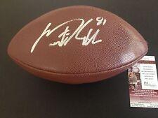 Dustin Keller Signed Auto Wilson Football Ball JSA Certified COA